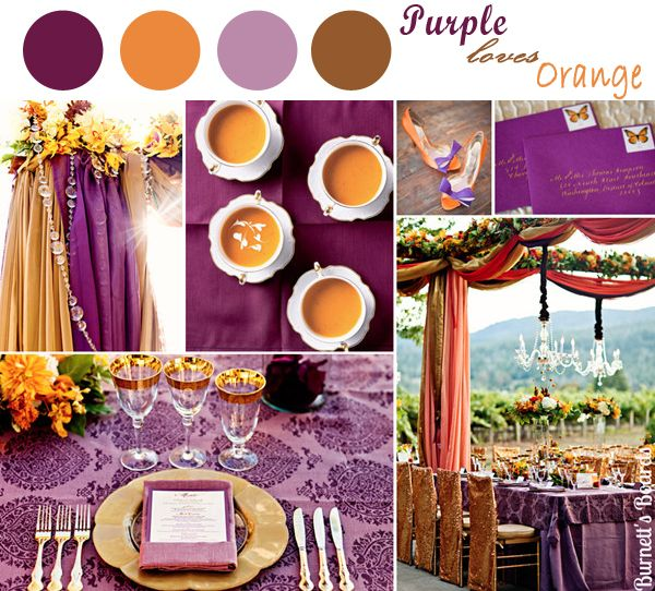 25 best ideas about purple fall weddings on pinterest - Violet and orange combination ...