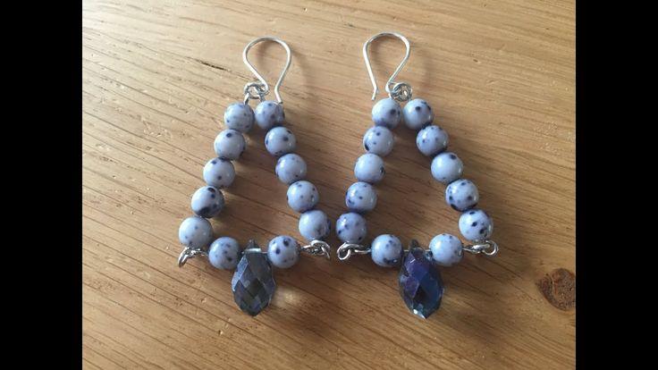 diy sieraden simpele driehoek oorbellen / easy triangle earrings - YouTube