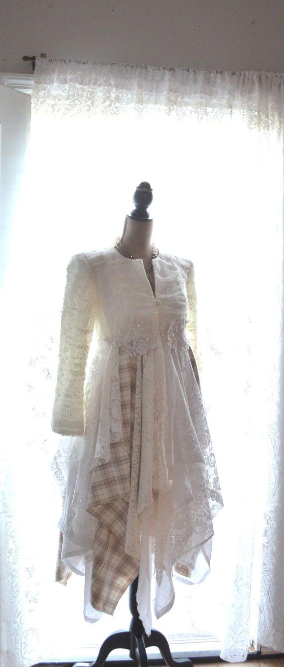 Stevie Nicks style coat Bohemian lace duster by TrueRebelClothing