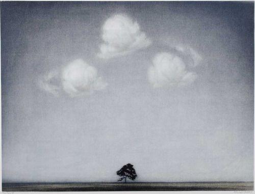 iamjapanese: Christopher Rådlund(Norwegian, b.1970)Tre skyer Litografiie