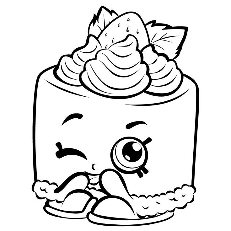 Color Free Shopkins Coloring Pages
