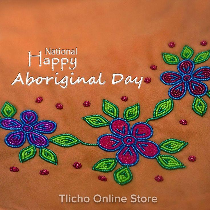 Happy National #Aboriginal Day! Beautiful beadwork from #Whati, NT! #Tlicho
