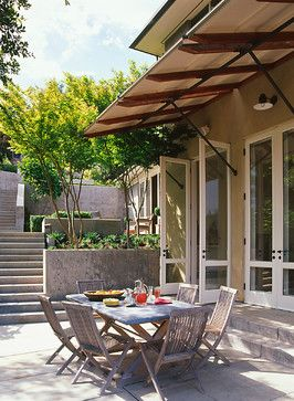 Awning idea off of west side of building?  Burwell Residence - contemporary - patio - other metro - BAR Architects