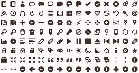 Beautiful black and white icon set
