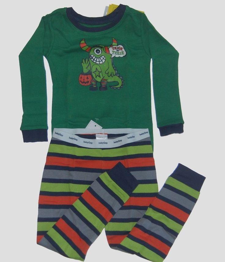 Baby Gap Girls Boys Halloween Monster Pajamas 2 2T NEW NWT #BabyGap #TwoPiece #halloween
