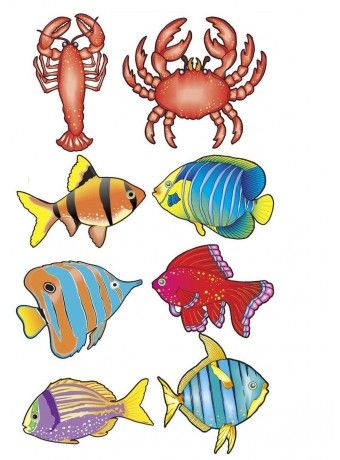 Decoraci n mar decora tu fiesta hawaiana o fiesta for Pegatinas de peces