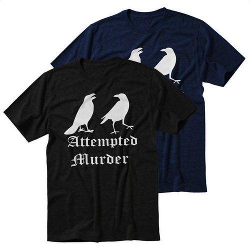 Black+Men's+Tshirt+Attempted+Murder+Black+Shirt+For+Men