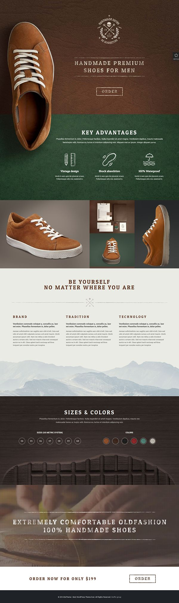 BeTheme - Handmade Shoes Example on Behance