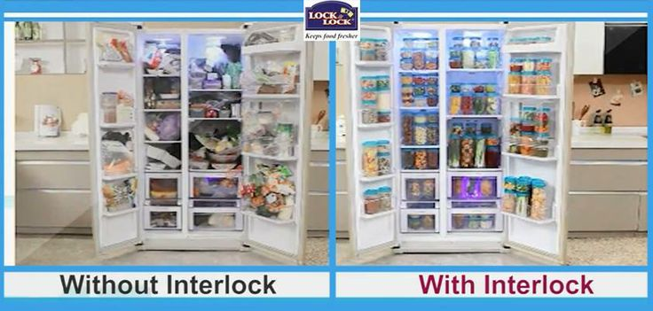 Now you can see the difference in your refrigerator with Lock & Lock Interlock!