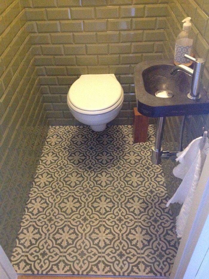 CASABLANCA XL-F26 20x20 cm tegels toegepast in toilet. Collectie FLOORZ