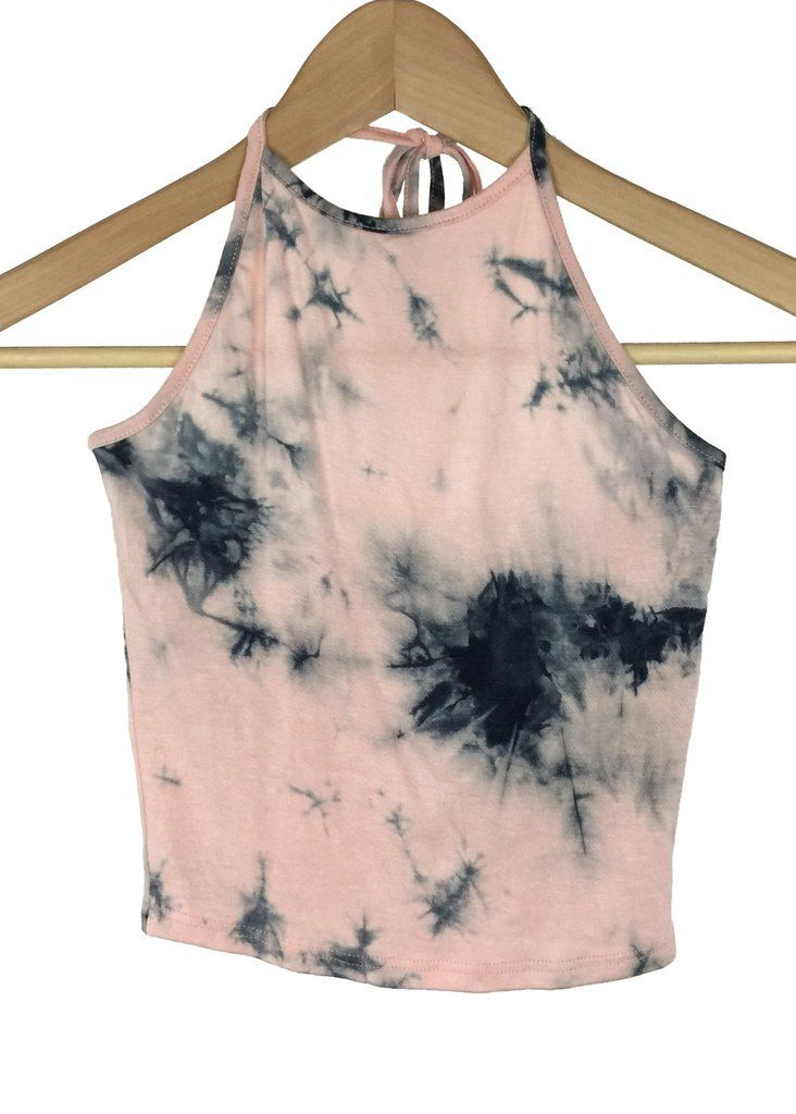 tie dye crop top (quartz pink)