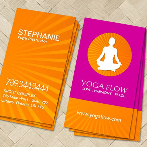 2565 best custom business card templates images on pinterest bright and modern yoga business cards reheart Gallery