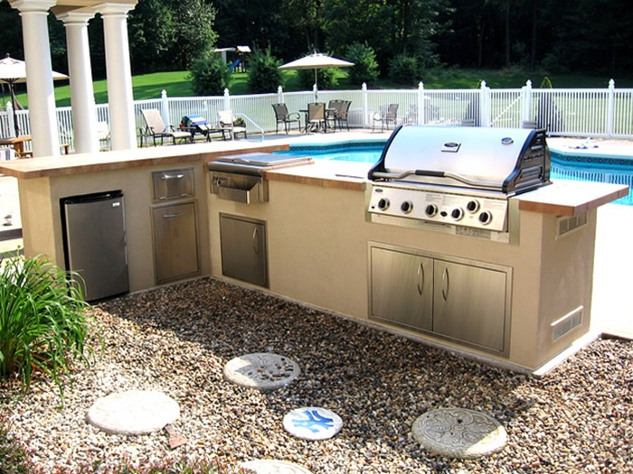 55 best summer kitchen images on pinterest for Outdoor summer kitchen ideas