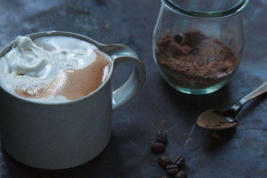 horká čokoláda s kávou