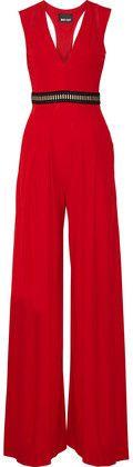 Just Cavalli Cutout Stretch-Jersey Jumpsuit