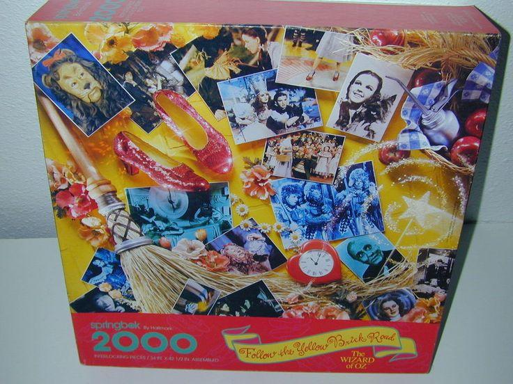 Springbok Wizard of Oz Puzzle 2000 pc 1993 Jigsaw Follow the Yellow Brick Road A #Springbok