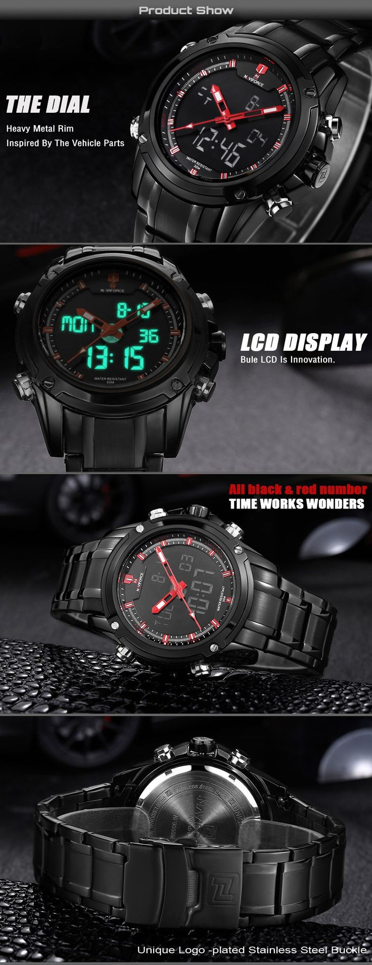 Top Men Watches Luxury Brand Men's Quartz Hour Analog Digital LED Sports Watch Men Army Military Wrist Watch Relogio Masculino-in Quartz Watches from Watches on Aliexpress.com | Alibaba Group