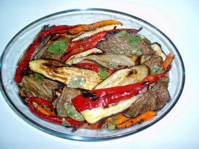 Ψητά λαχανικά με μανιτάρια!!!