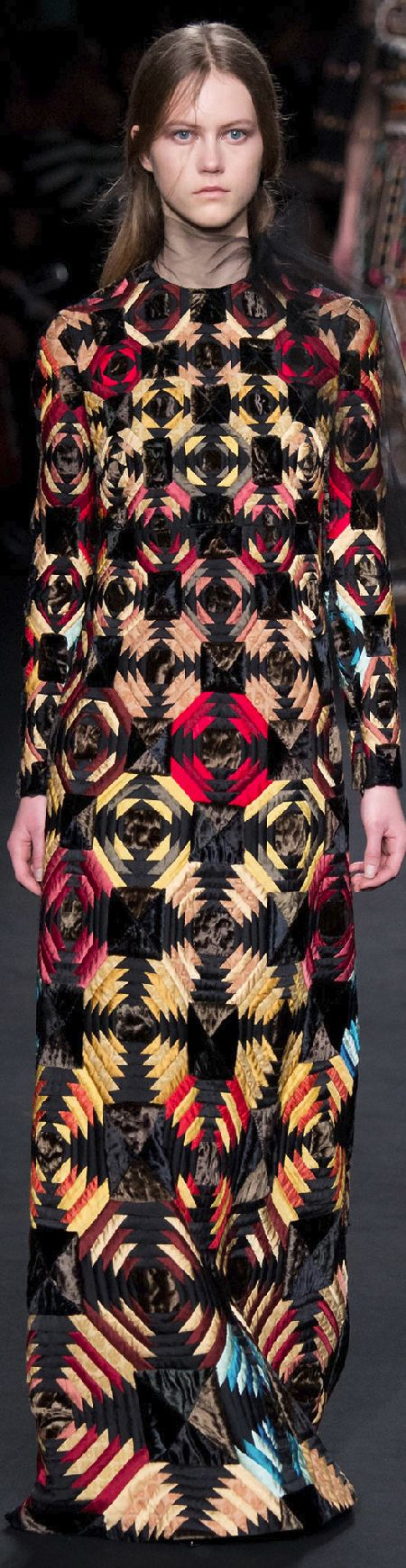 Fall 2015 Ready-to-Wear Valentino,  She doesn't look very happy to be wearing her pineapple frock...
