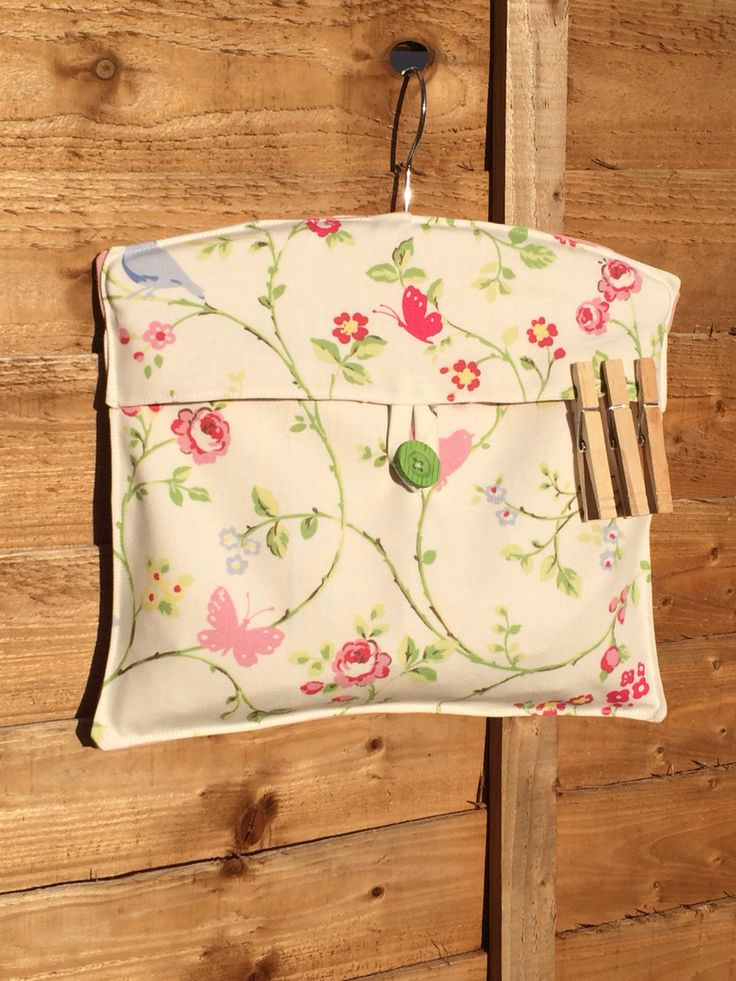 Gorgeous peg bag! Fully lined for durability with button fastening, perfect for those sunny washing drying days. £10 plus postage