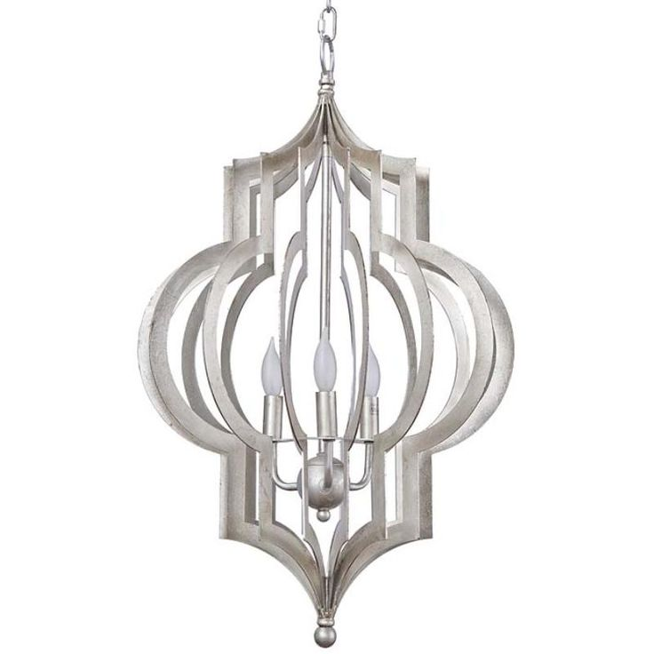 Pattern Makers Silver Chandelier by Regina Andrew. Available in Small or Large.
