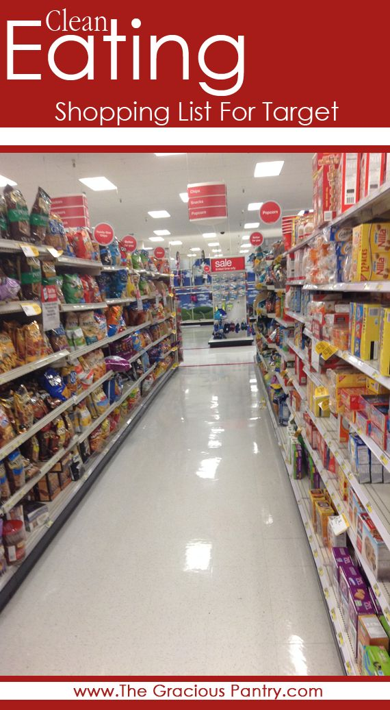 Clean Eating Shopping List for Target #CleanEating #EatClean #ShopClean