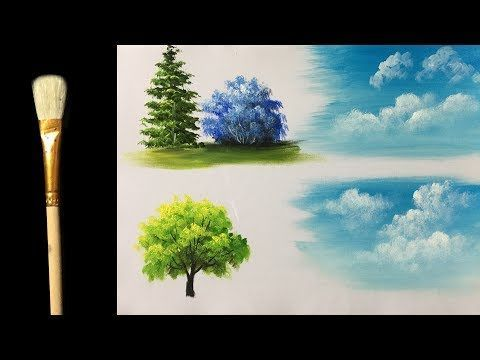 My Cloud Acrylic Brushe - Acrylic lesson - YouTube
