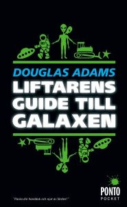 7 ex Liftarens guide till galaxen http://www.litlovers.com/reading-guides/13-fiction/432-hitchhikers-guide-to-the-galaxy-adams