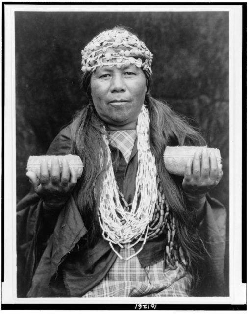 Hupa female shaman, c.1923, Edward Curtis