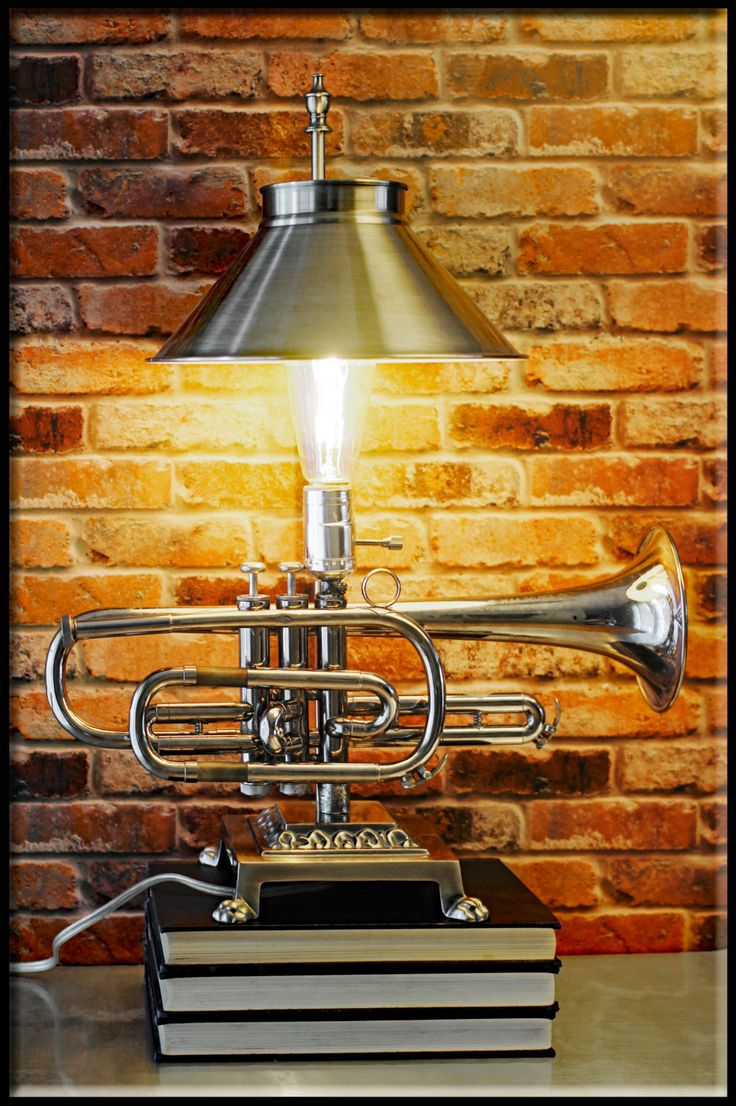 Repurposed Vintage 1960 Silver Selmer Signet Vincent Bach Trumpet with  Matching Lamp Shade Upcycled Table Lamp by by on Etsy - 194 Best