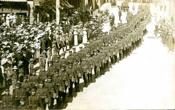 PPCLI parade through the Ottowa streets August 1914