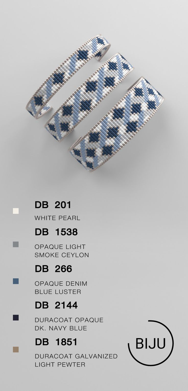 Bead loom pattern, LOOM bracelet pattern, miyuki pattern, square stitch pattern, pdf file, pdf patte