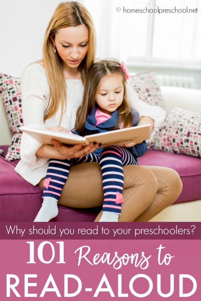 Some of my fondest memories as a mom center around reading with my children. Let's explore 101 reasons to read to your preschoolers! #readaloud #preschoolers #preschool #homeschooling    https://homeschoolpreschool.net/read-to-your-preschoolers/