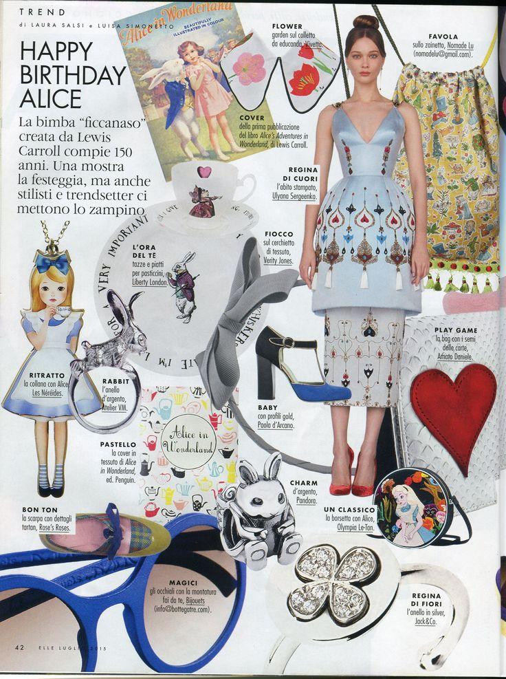 Parution presse N2 Paris collier collection Le Tea Time d'Alice, Elle Italy