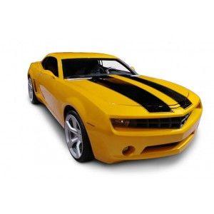 Sticker voiture de course jaune