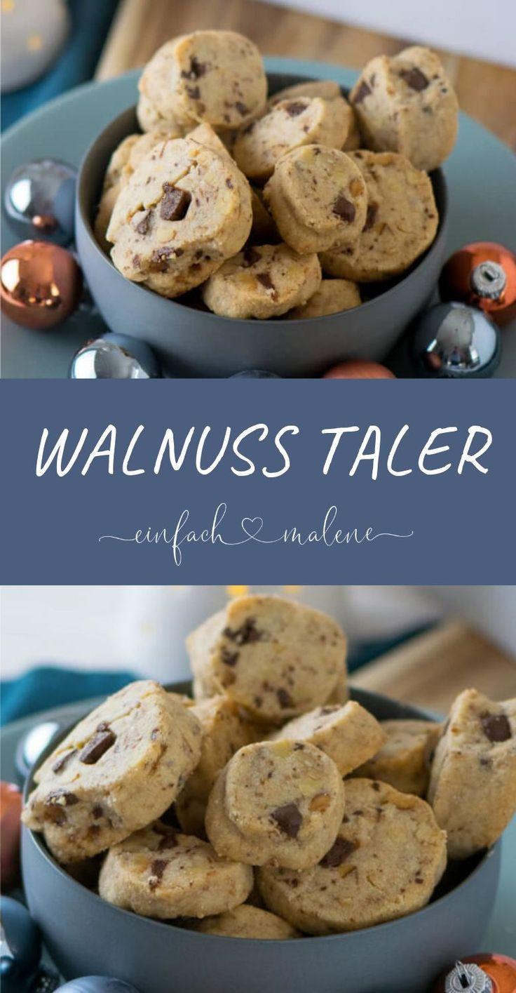 Walnüsse, Schokolade und kleine Salzkristalle machen diese Schokoladen Walnuss …