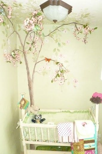 Really like a forest theme for a girl and I like the light green