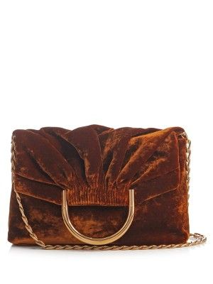 Nina velvet clutch | Stella McCartney | MATCHESFASHION.COM UK