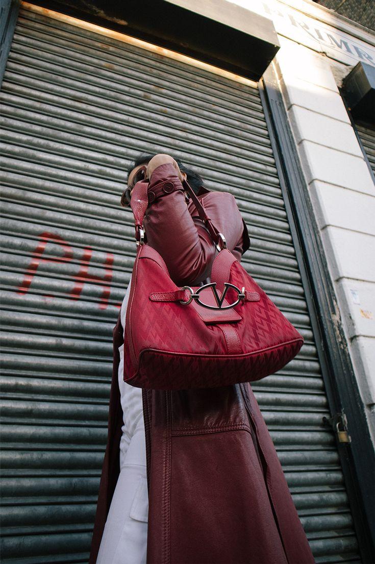 angelebaby red trench coat valentino
