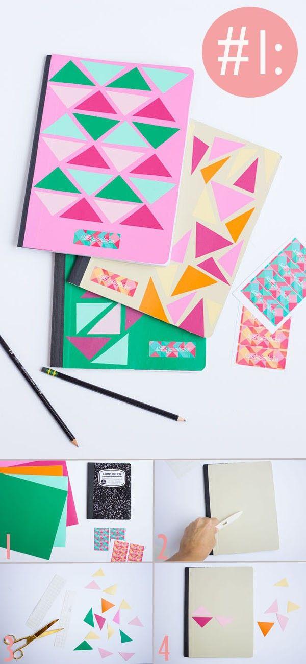 Cómo decorar cuadernos o libretas paso a paso ~ Solountip.com