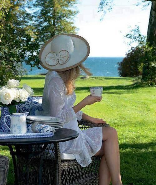 A good hat and a cup of tea in the afternoon shade. What's not to love?
