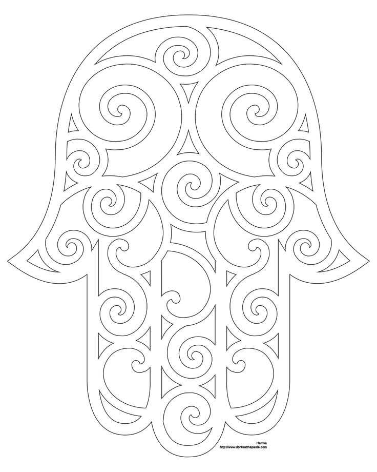 bead embroidery template | Don't Eat the Paste: Hamsa Coloring Page and Embroidery Patterns