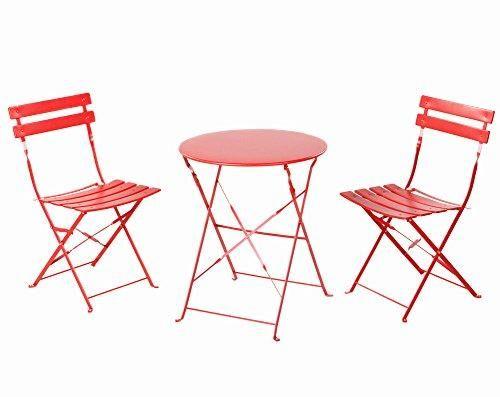 Oferta: 109.99€ Dto: -26%. Comprar Ofertas de Grand Patio Conjunto de mesa y sillas plegables para exterior, ideal para balcón o jardín, de acero inoxidable (1pc Mesa + 2p barato. ¡Mira las ofertas!