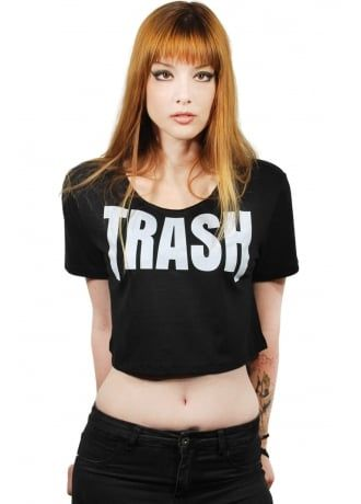 Trash slogan tshirt from librastyle