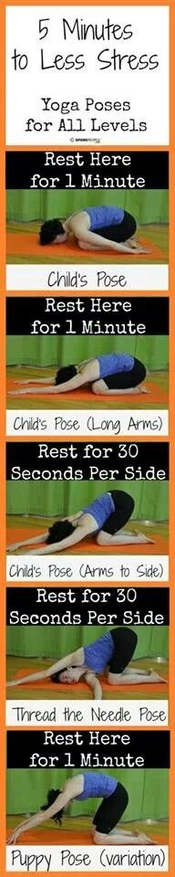 5 minutes to less stress #healthy #yoga