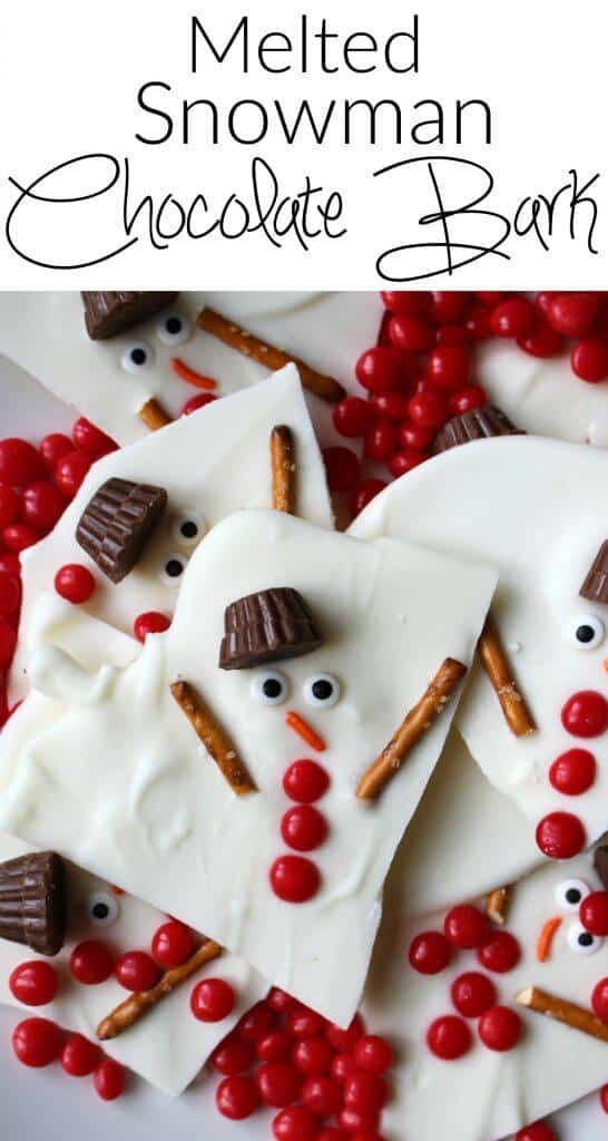 Melted Snowman Chocolate Bark and other great Teacher gift ideas!
