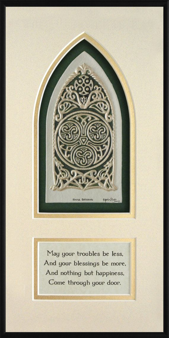 Celtic House Blessing Cast Paper Irish Art by Castpaper on Etsy