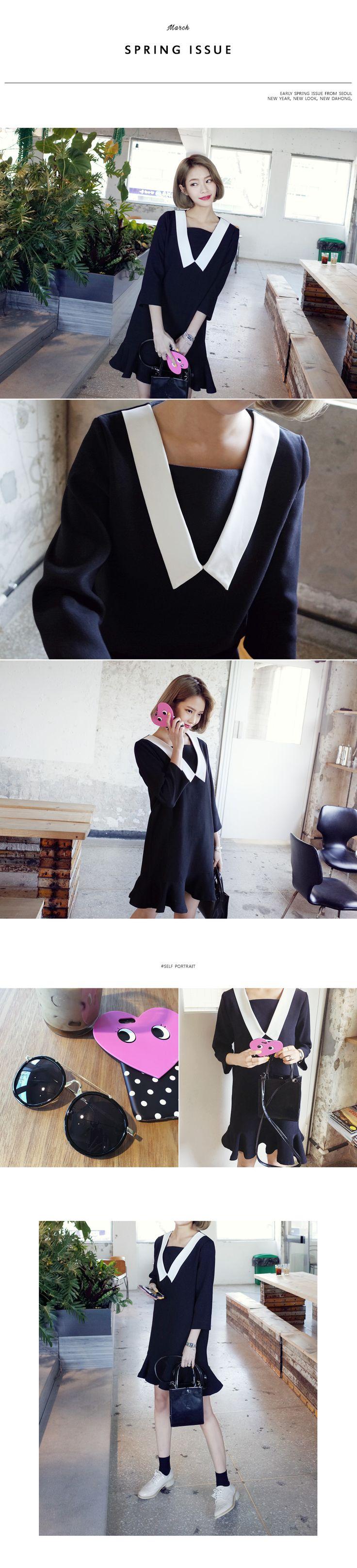 【时尚起义】韩国代购女装2016春夏韩版荷叶边少女连衣裙688246-淘宝网全球站