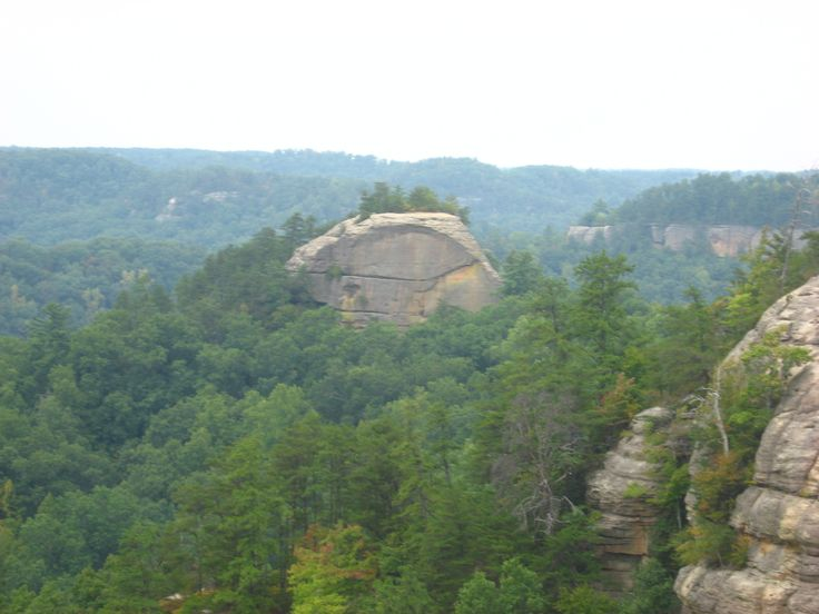 A view of Courthouse Rock from the Auxier Ridge trail. - The Red River Gorge is a canyon system on the Red River in east-central Kentucky.