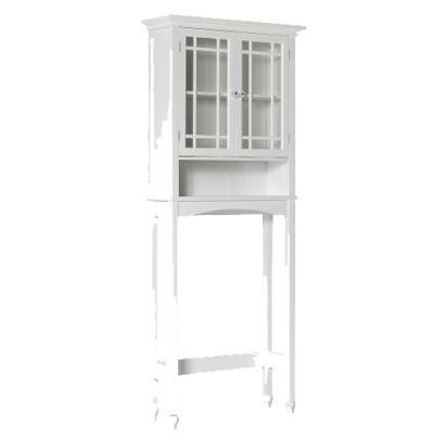 Elegant Home Fashions Neal Over Toilet Space Saver Etagere White